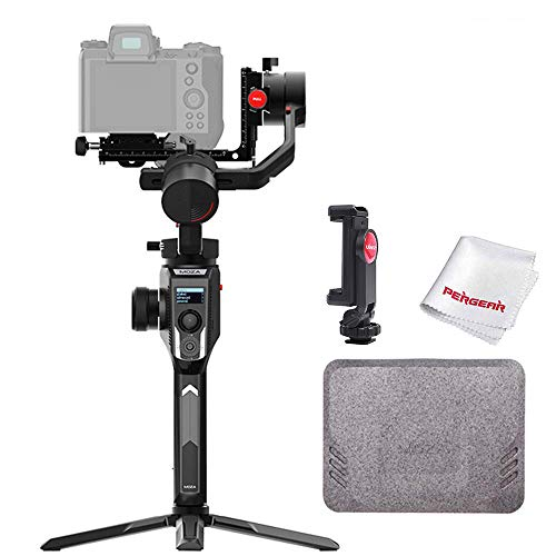 MOZA AirCross 2 3 Axis Handheld Gimbal for Mirrorless Camera up to 3.2kg/7lb Parameter Easy Setup Auto-Tuning 12hrs Runtime 18W Fast Charge, W Phone Holder