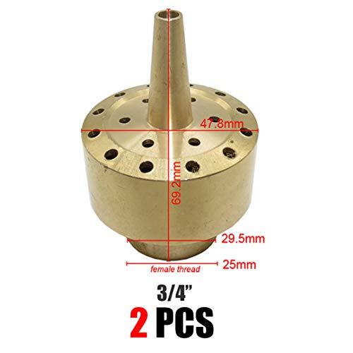 SHOULIEER 1/2 3/4 1 Pulgada de Rosca Hembra de Fuente Ornamental Extintor de Boquilla de Bronce de Cobre Pond rociadores del Paisaje Bxab865C