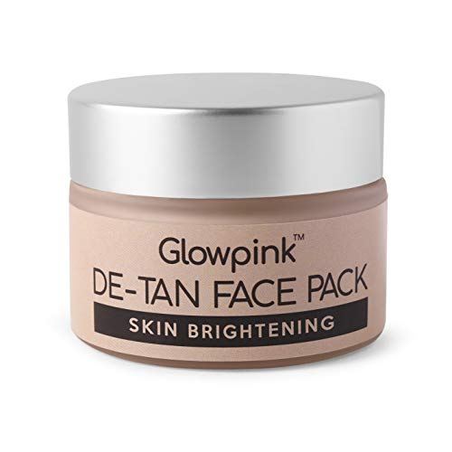 Glowpink DeTan Skin Brightening Face Pack Mask For Glowing Skin,Tan Removal, Oil Control, Acne & Fairness, For Women & Men - 50g