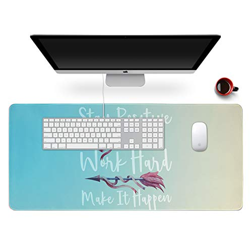 """Anyshock Desk Mat, Extended Gaming Mouse Pad 35.4"""" x 15.7"""" XXL Keyboard Laptop Mousepad with Stitched Edges Non Slip Base, Water-Resistant Computer Desk Pad for Office and Home (Teal Gradient)"""