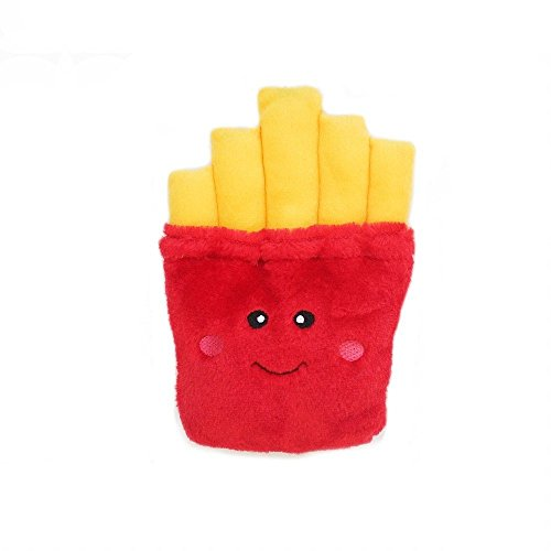 ZippyPaws - NomNomz Plush Squeaker Dog Toy for The Foodie Pup - Fries