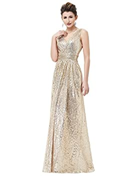 Pleated Waist Dress with Concealed Zipper in The Back Light Gold Size 14 KK199