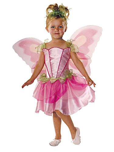 Rubie´s Printemps Fée Rose Filles Déguisement Fairies Childs Enfants Costume + Ailes - Version Anglaise