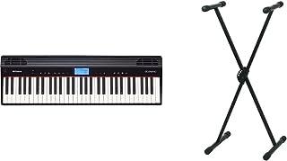 Roland Go-61P Digital Piano 61 Touches Conecta Inalámbricamente Con Tu Smartphone + Pure Gewa F900520 Soporte De Teclado, ...