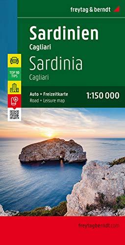 Cerdeña-Cagliari, mapa de carreteras. Escala 1:150.000. Freytag & Berndt.: Top 10 Tips Sehenswürdigkeiten. Top Citypläne. Ortsregister mit Postleitzahlen: AK 0617 (Auto karte)