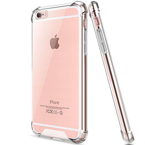 Salawat for iPhone 6 Plus Case, Clear iPhone 6s Plus Case Cute Anti Scratch Slim Phone Case Cover Reinforced TPU Bumper Shock Absorption Protective Case for iPhone 6/6s Plus 5.5inch (Crystal Clear)
