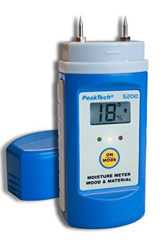 Peak Tech de madera y material Medidor de humedad con puntas de prueba intercambiables, 1pieza, P 5200