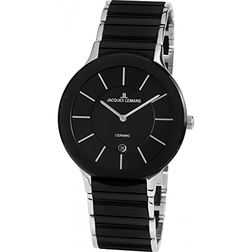 Jacques Lemans Unisex Analog Quarz Uhr mit Edelstahl Armband 1-1855A