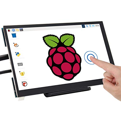 Freenove 7 Inch Touch Screen for Raspberry Pi, 1024x600 Pixel IPS Monitor, HDMI Display, 5-Point Touch Capacitive Screen, Adjustable Holder