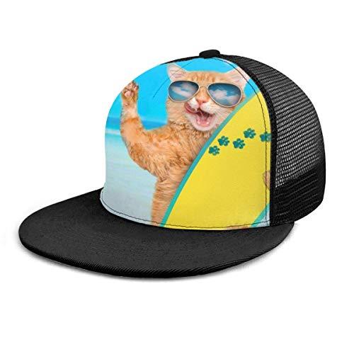 Desconocido Gorra de béisbol Surfer Cat Gafas de Sol Summer Beach Mesh...