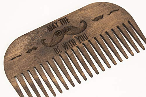 Wooden Comb 3.9x2x0.12 inches - Wooden Hairbrush - Hair Comb - Wooden Beard Comb - Father Beard Comb - Father Day Gift - Husband Beard Comb - Male Gift