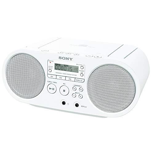 ソニー CDラジオ ZS-S40 : FM/AM/ワイドFM対応 ホワイト ZS-S40 W