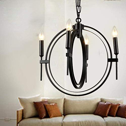 Pendant Light Chandelier Lamp Nordic American Style Cafe Restaurant Iron Candle Lamps Retro Countryside Industrial Loft