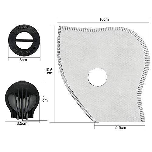 SKYSPER Staubmaske Atemmaske Fahrradmaske Verschluß Ventil Feinstaubmaske Fitnessmaske PM2.5 für Radsport Training (2pcs Filter) - 5