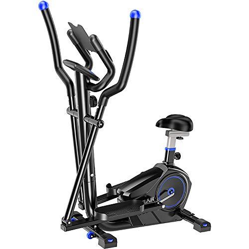 Huangjiahao Ellipsentrainer Elliptische Maschine Crosstrainer 2 in 1 Heimtrainer Cardio Fitness Heimfitnessgeräte Crosstrainer (Color : Black, Size : Free Size)