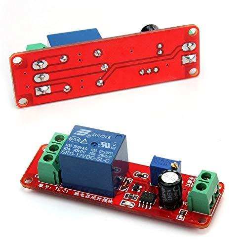 Cobeky Durable 10pcs 12V Delay Relay Shield NE555 Interruptor Temporizador Módulo Ajustable 0 a 10 Segundos