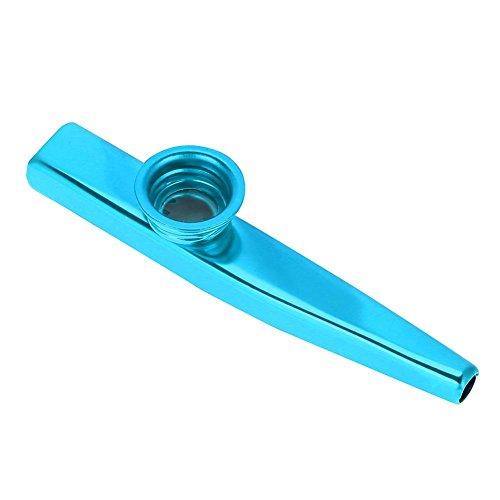 Drfeify Kinder Kazoo, Durable Metal Kazoo Musikinstrument Geschenk Spielzeug für Kinder(Blau)
