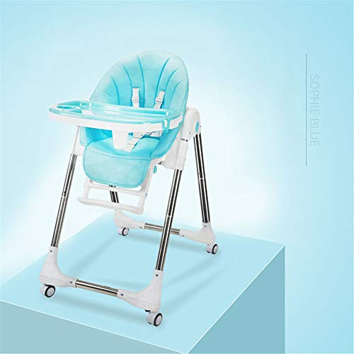 Best Buy! High Chair Kids Dinner Chair Baby Booster Seat High Chair Portable with Tray Feeding Plate Table Anti-Slip Safe Comfortable Adjustable Height Foldable Feeding Baby for Baby Toddlers Children