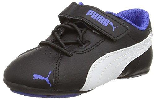 Puma Janine Dance 2 V Inf, Mädchen Sneakers, Schwarz (black-white-dazzling blue 04), 35 EU (2.5 Kinder UK)