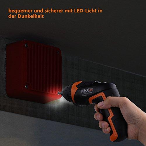 Tacklife Mini Akkuschrauber SDP51DC 3,6V mit LED-Licht - 5