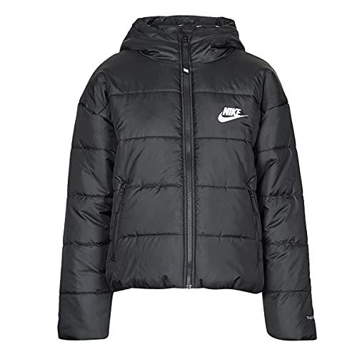 Nike Damen Therma-FIT Repel Kapuzenpullover, Black/Black/White, S