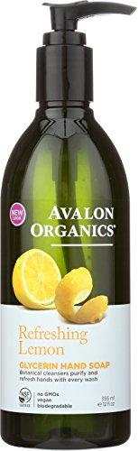 Avalon Organics Refreshing Lemon Glycerin Hand Soap, 12 oz.