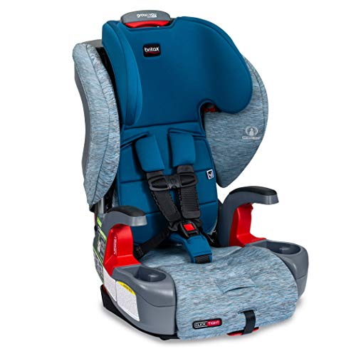 Britax Grow with You ClickTight Harness-2-Booster Car Seat | 2 Layer Impact Protection - 25 to 120 Pounds, Seaglass [New Version of Frontier]