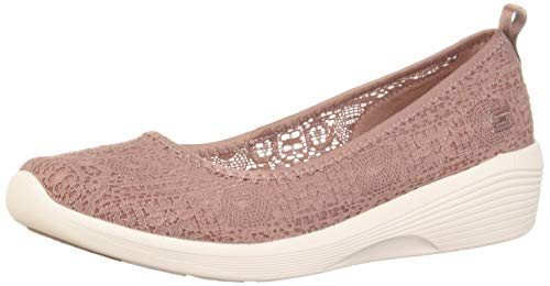 Skechers Damen Arya-Airy Days Geschlossene Ballerinas, Pink (Mauve Crochet/White Trim Mve), 38 EU