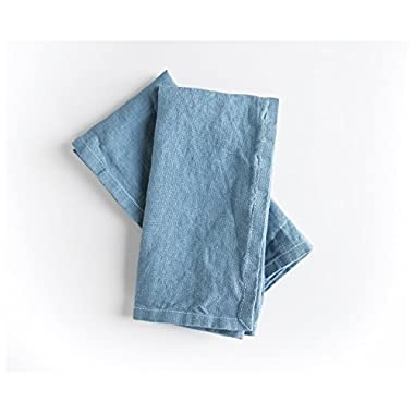 Indigo linen Napkins- Set of 2 - Linen Napkins