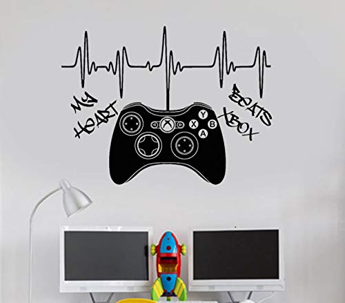 Ponana My Heart Beats Xbox 360 Controller Gamepad Wall Art Decal Sticker Picture Poster 76X57Cm