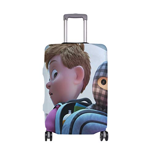 Travel Luggage Cover Ternet Ninja Little Boy Backpack Cute Doll Suitcase Protector Fits 22-24 Inch Washable Baggage Covers