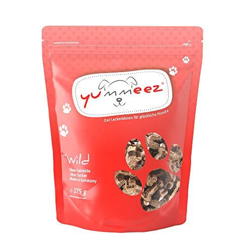Yummeez Wild Leckerli - Hundeleckerli als kleine Knöchelchen - getreidefrei mit hohem Fleischanteil - perfektes Leckerchen für Training oder Belohnung (1 x 175 g)