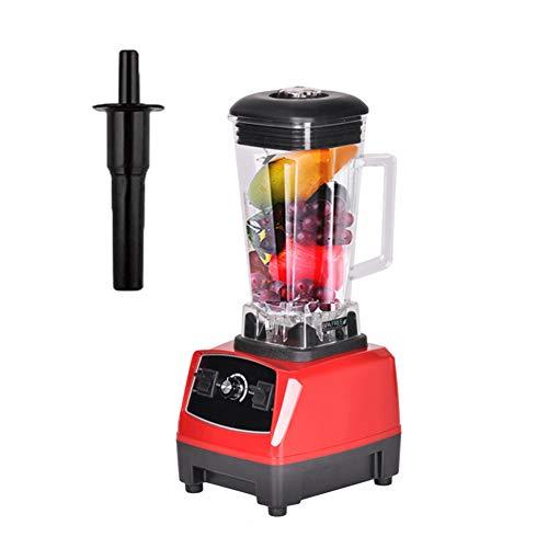 Portable Blender, Smoothie Smart Blender geluidsarme werking gemakkelijk schoon te maken, 2L grote capaciteit Ontwerp 6-Leaf roestvrijstalen mes geschikt voor thuis of drinken Shop,Red