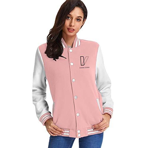 Duran Duran Baseball Jacket Mens Womens Uniform Sweatshirt Sweater Plus Velvet Coat Pink
