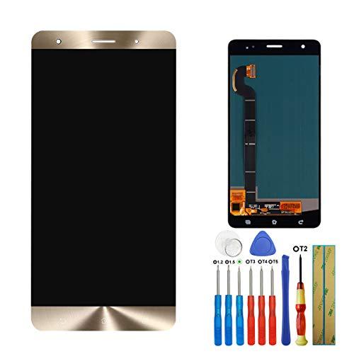 E-yiviil - Pantalla Amoled de Repuesto para ASUS Zenfone 3 Deluxe ZS570KL Z016D (LCD, táctil, con Herramientas), Color Dorado