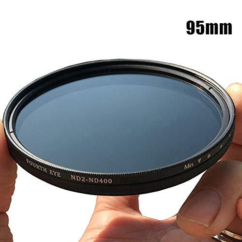 EFE Fe ND2-400 Neutral Density ND Filter Fader Variabel Verstellbare optische Glaslinse, Schwarz , 95 mm