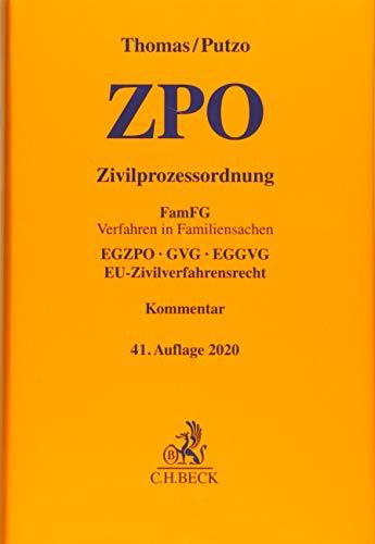 Zivilprozessordnung: FamFG Verfahren in Familiensachen, EGZPO, GVG, EGGVG, EU-Zivilverfahrensrecht