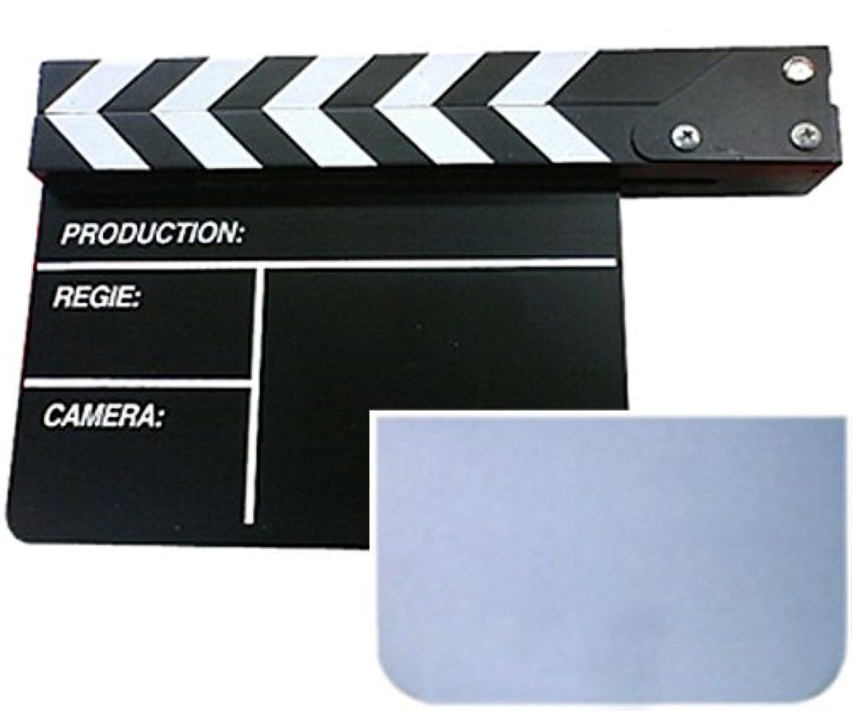 アクリル黒板 カチンコ (中)Black 21×12×27cm 【マーカー用ホワイトボードセット】
