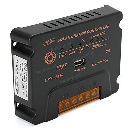 LTH-GD Relais USB MPPT Panneau Solaire contrôleur de Charge de la Batterie CPY-2420 12V / 24V 20A commutateur de Relais WiFi