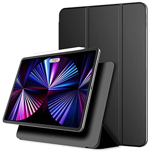 JETech Funda Magnética iPad Pro 11 Pulgadas 2021/2020/2018 Modelo, Soporte de Apple Pencil 2ª generación de Carga, Accesorio Magnético, con Auto Sueño/Estela