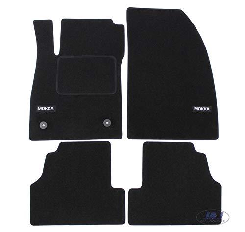 J&J AUTOMOTIVE   Logo Tapis DE Sol Noir Velours Compatible avec Mokka 2012-2020