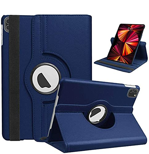 iPro Accessories Funda para iPad Pro 11 2021 iPad Pro 11 pulgadas 2021 cubierta - Slim Fit Premium Pu cuero Folio Case para Apple iPad Pro 11 2021 cubierta (azul)