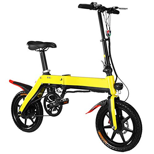 Bicicleta eléctrica plegable de 350 vatios, batería de litio de 36 V...