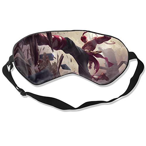 Lee Sinthe Blind Monk Accessories Idiot,noob MOBA Game Invocador de la Rift Bandle City Eye Mask SleepMask& Blindfold Travel Sleeping Shade Cover Unisex Impresión 3D