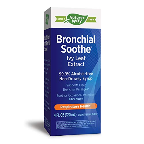 Nature's Way Bronchial Soothe Ivy Leaf 99.9% Alcohol-free Non-Drowsy Syrup, 120 ML (4 Fl Oz.)