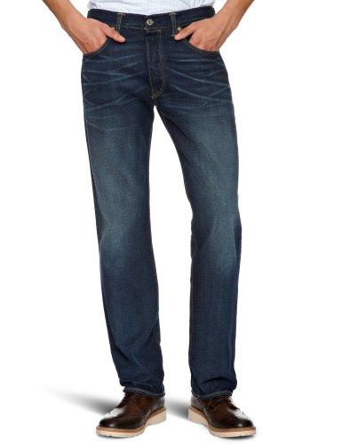 Levi's 501 Original Fit Jeans, Blu Sandy, 33W / 32L Uomo