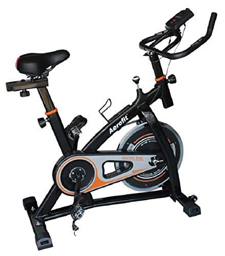 Aerofit Spin Bike AF-783 (Black) | 8 kgs High Inertia Spin Wheel | Best Spin Bike for Gym Workout | Perfect Fitness Spin Bike for Exercise at Home | Best Indoor Spinning Bike |