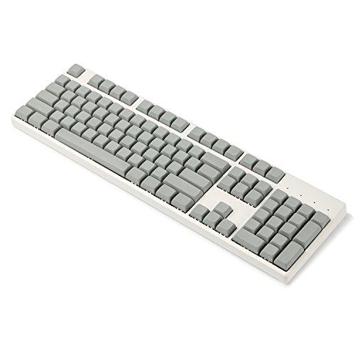 XDA 142 Tasten Komplettset Schlüsselsatz Rohling ähnlich DSA für MX mechanische Tastatur Steelseries Ergo Filco Leopold Cosair Noppoo Planck (dunkelgrau) (nur Tastenkappe)