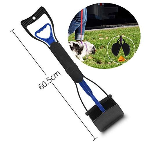Yeying123 Pooper Scooper Set für Hunde oder Katzen mit Poop-Bags Perfekt für alle Haustiere Best Long Handle Scoop Portable und Heavy Duty mit Jaw Claw Bin,Long