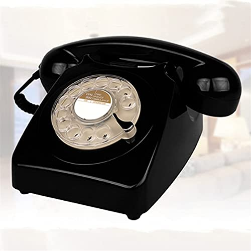 HHORB Estilo De Europa Girar Dial Vintage Teléfono Fijo Plástico Oficina En Casa Retro Cable Teléfono Fijo Teléfono Fijo (Color : G)